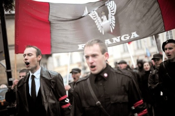Falanga-Warsaw-march